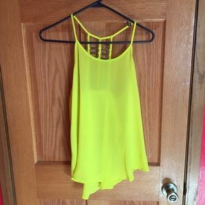 Tops - Bright yellow tank top ❤️